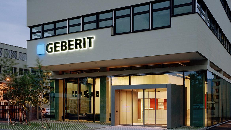 Geberit hoofdkantoor in Zwitserland