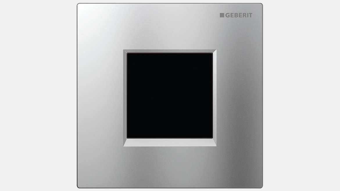 Geberit urinal flush control type 30 cover plate matt chrome