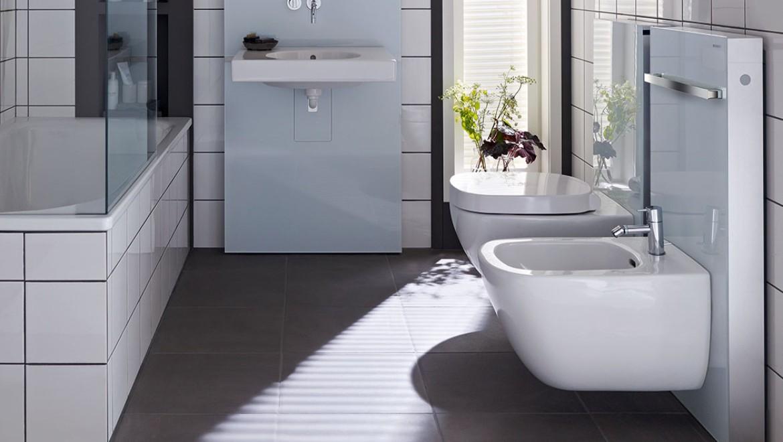 Panneaux sanitaires Geberit Monolith pour WC et bidet