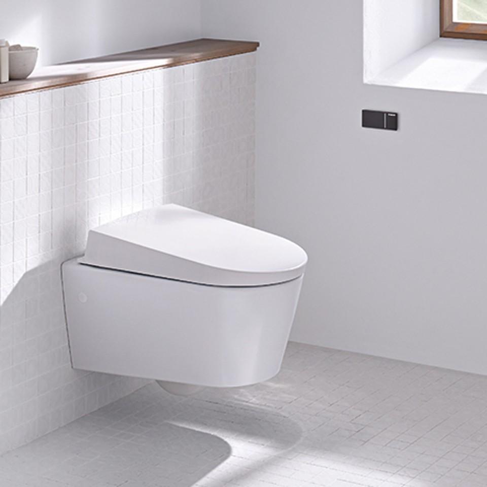 Geberit barrière-vrije wc met spoelbediening op afstand
