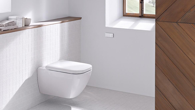 Geberit Fernbetätigung Typ 70 als Drückerplatte im Badezimmer