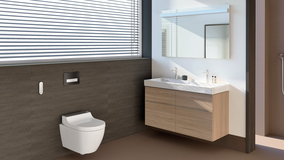 Geberit AquaClean Tuma shower toilet in the bathroom