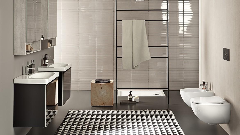 salle de bains Acanto avec WC suspendus