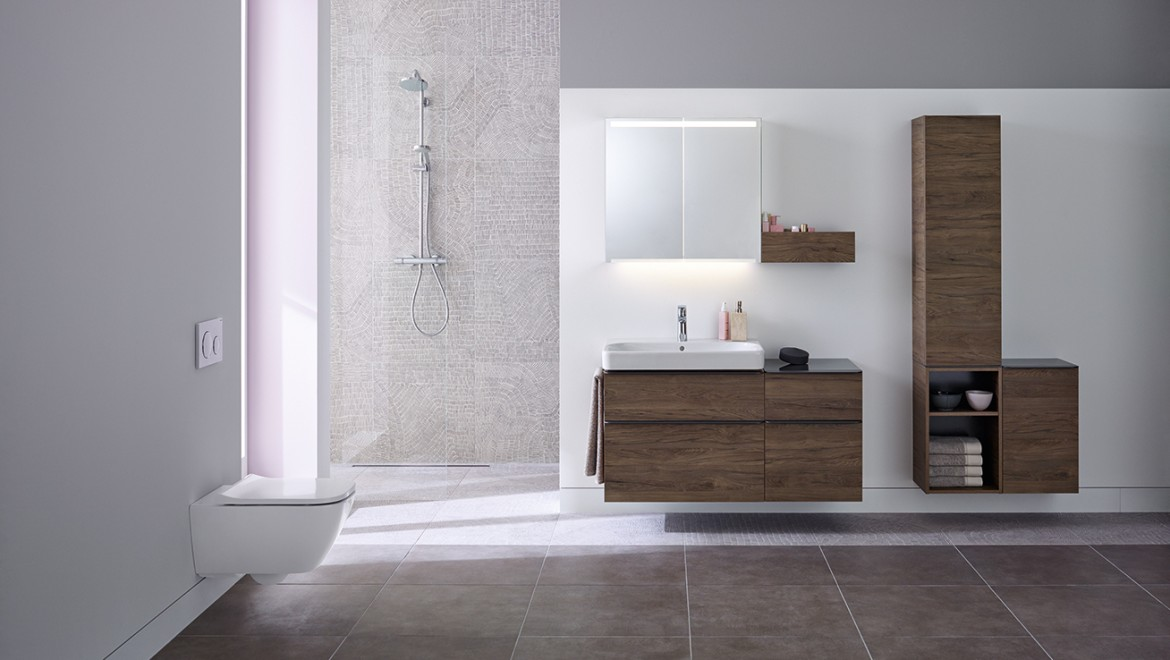 Geberit Smyle bathroom series with WC and washbasin