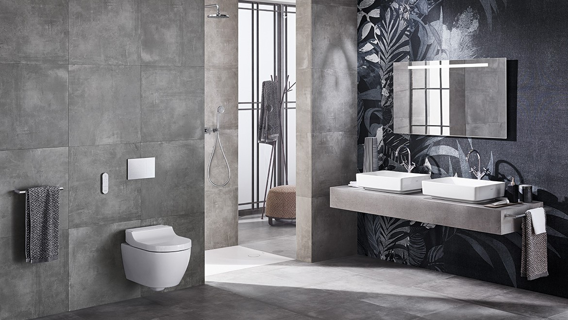 Geberit AquaClean Tuma douche-wc in de badkamer