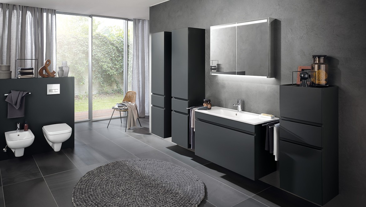 Geberit Renova Plan vanity basins with slim edge