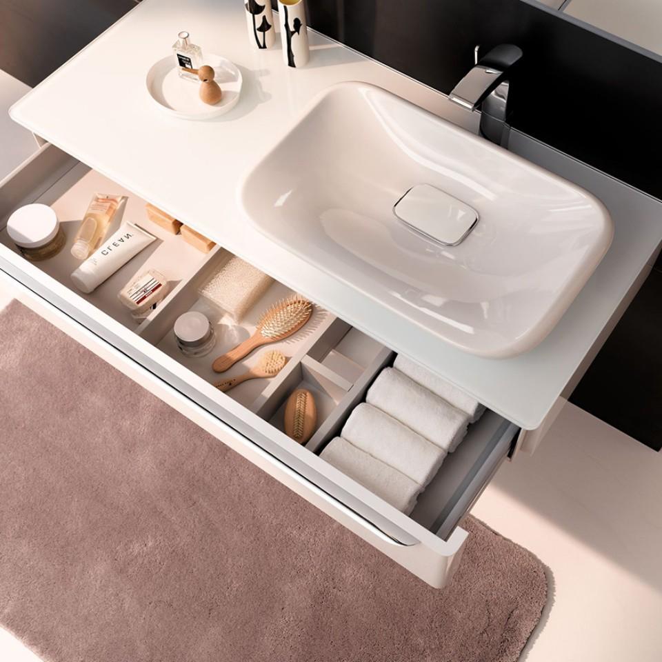 Geberit myDay washbasin with open drawer