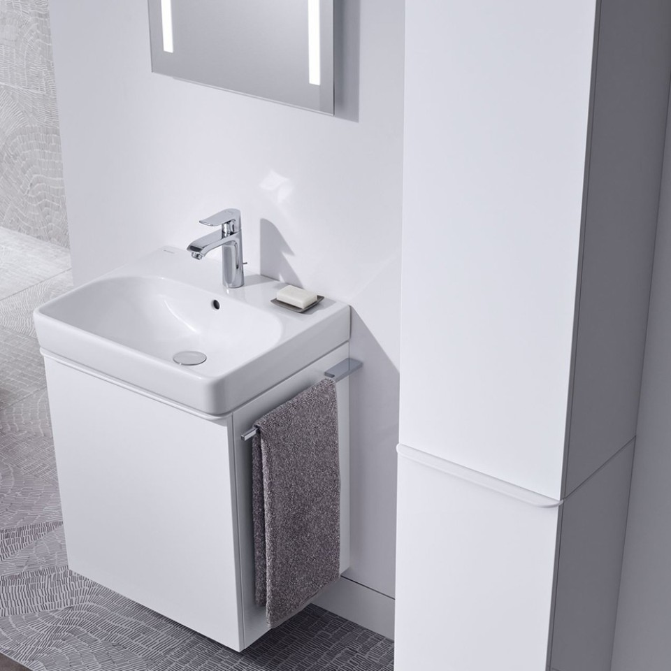 Geberit Smyle Square washbasin and mirror with light