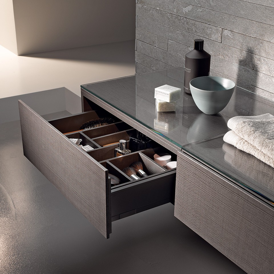 Geberit Xeno2 furniture with open drawer