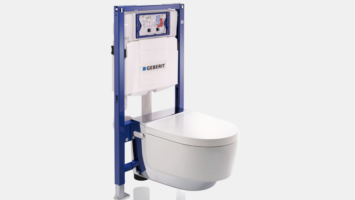 Geberit Duofix-element voor wand-wc met Geberit AquaClean Mera