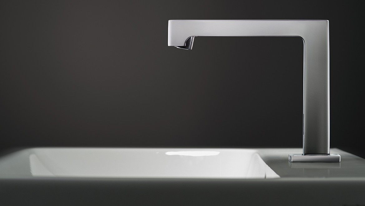 Geberit Brenta deck mounted tap system for washbasins
