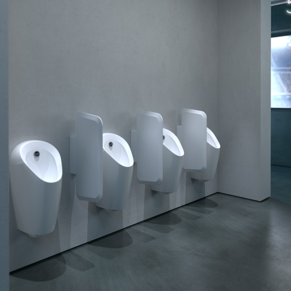Geberit Selva urinals in a sports stadium