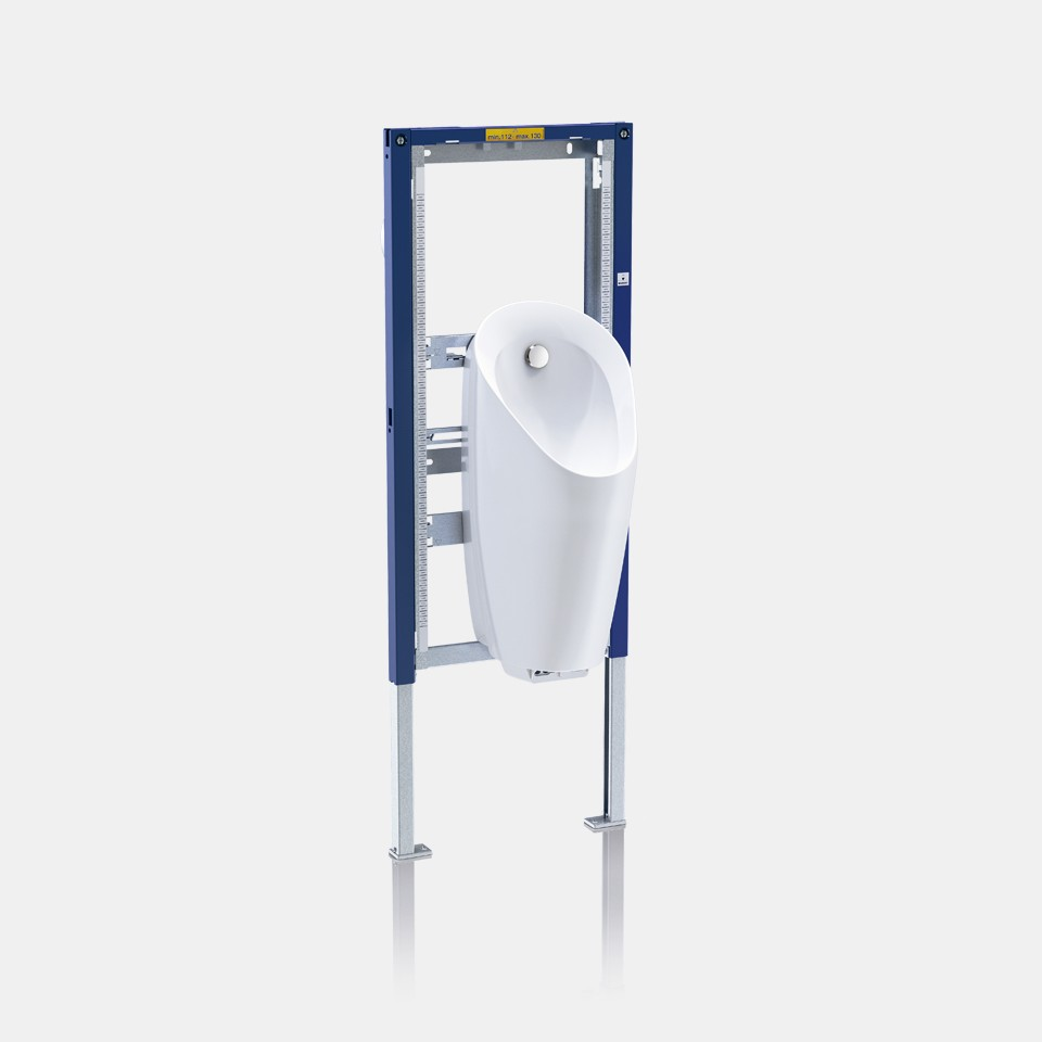 Geberit Duofix installation system for integrated urinal flush control