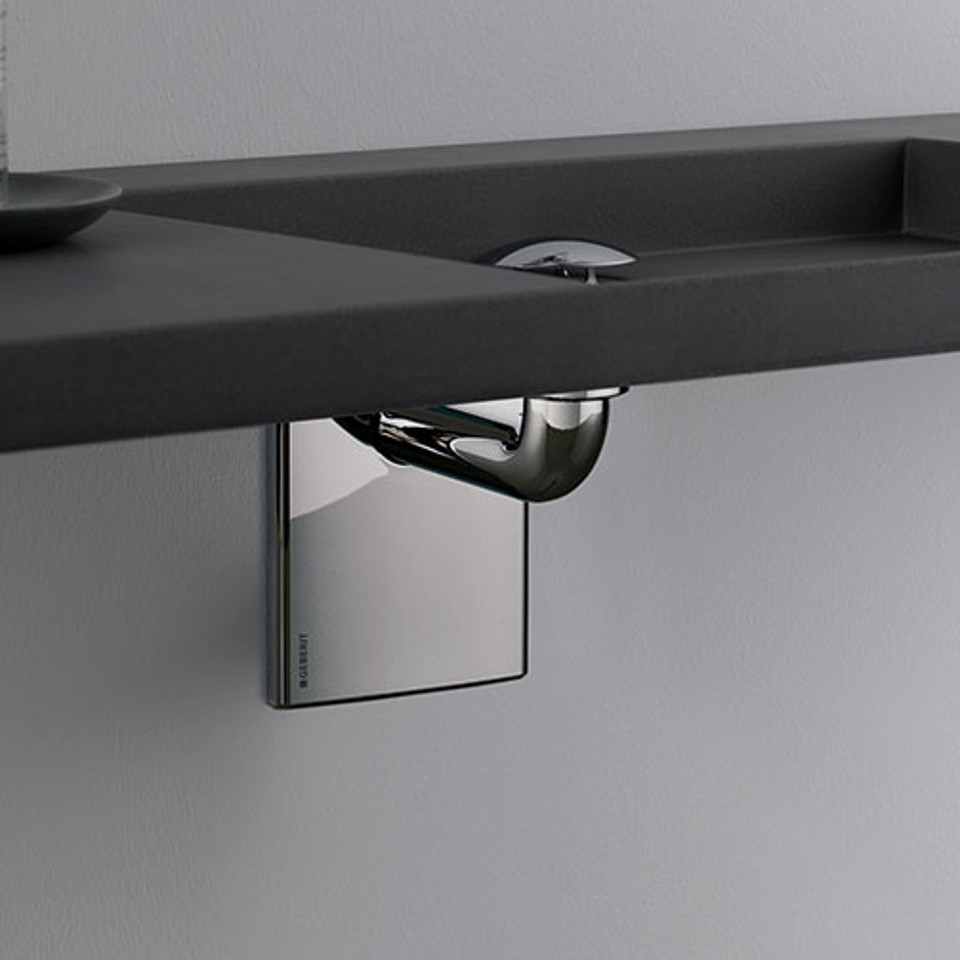 Geberit P-trap for washbasins, space-saving model