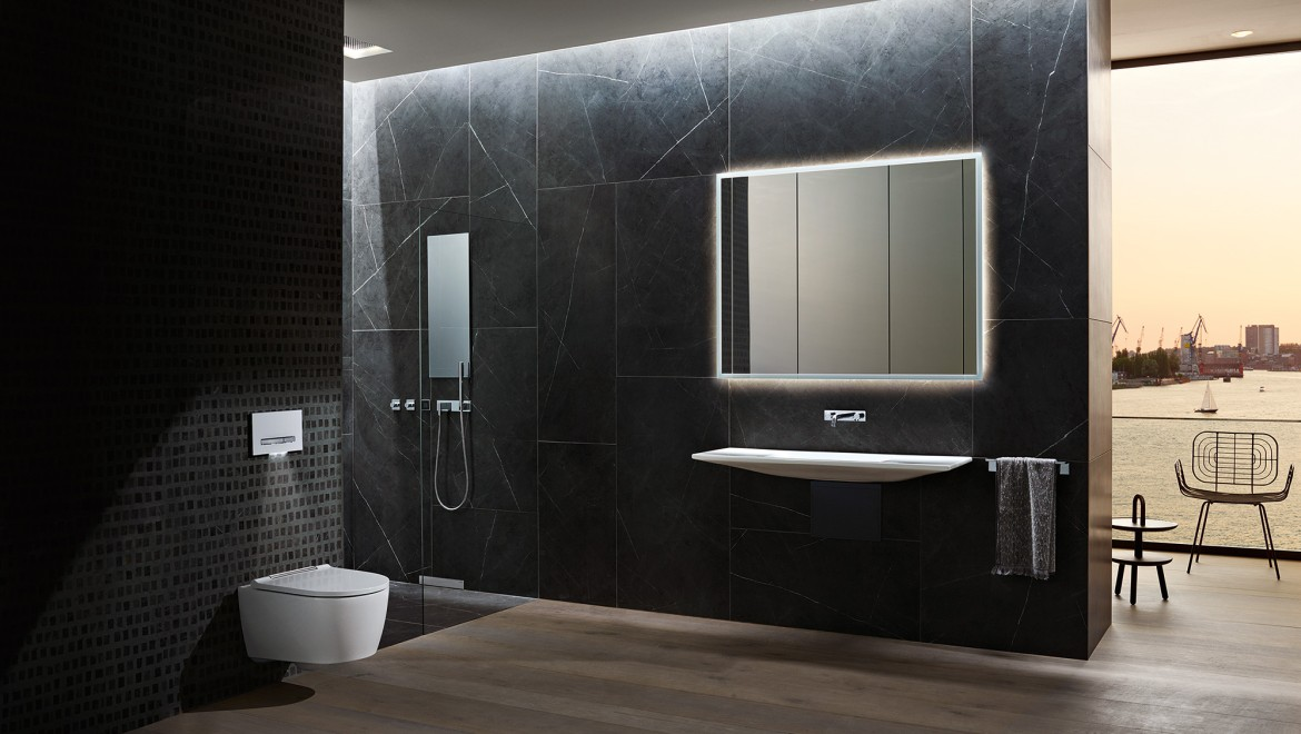 Bathroom with Geberit ONE products