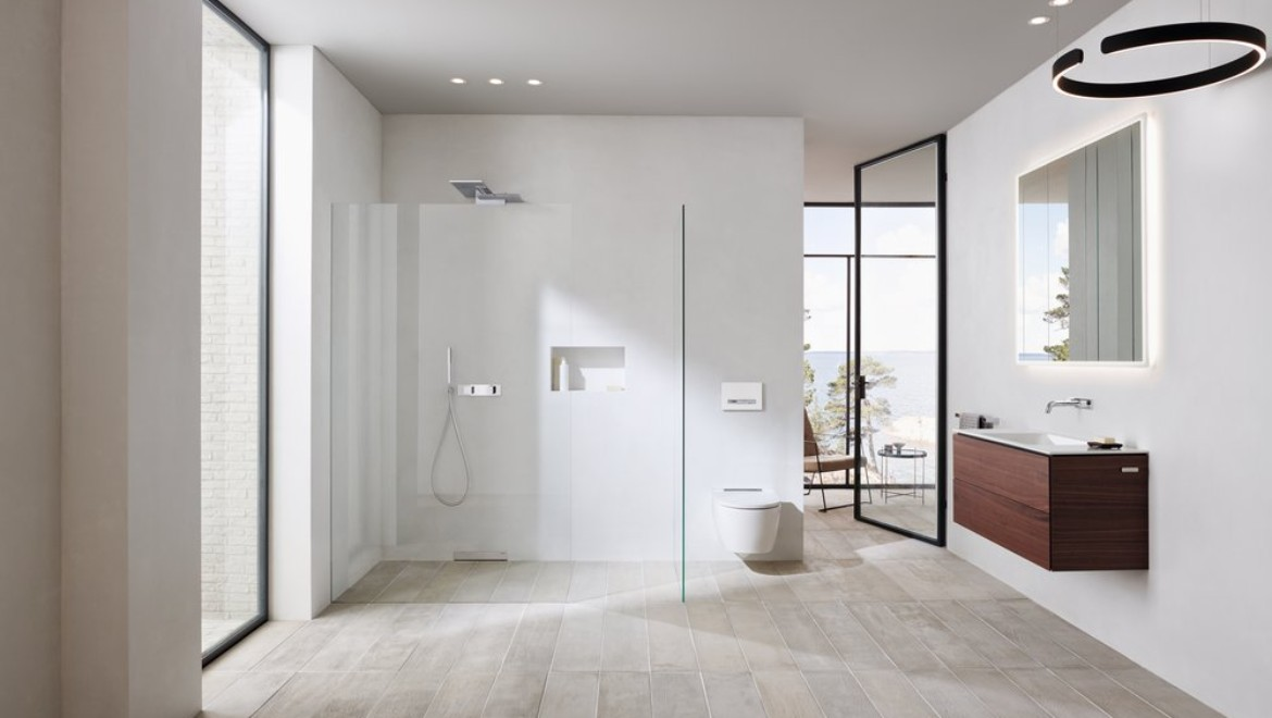 Geberit ONE bathroom with shower solution
