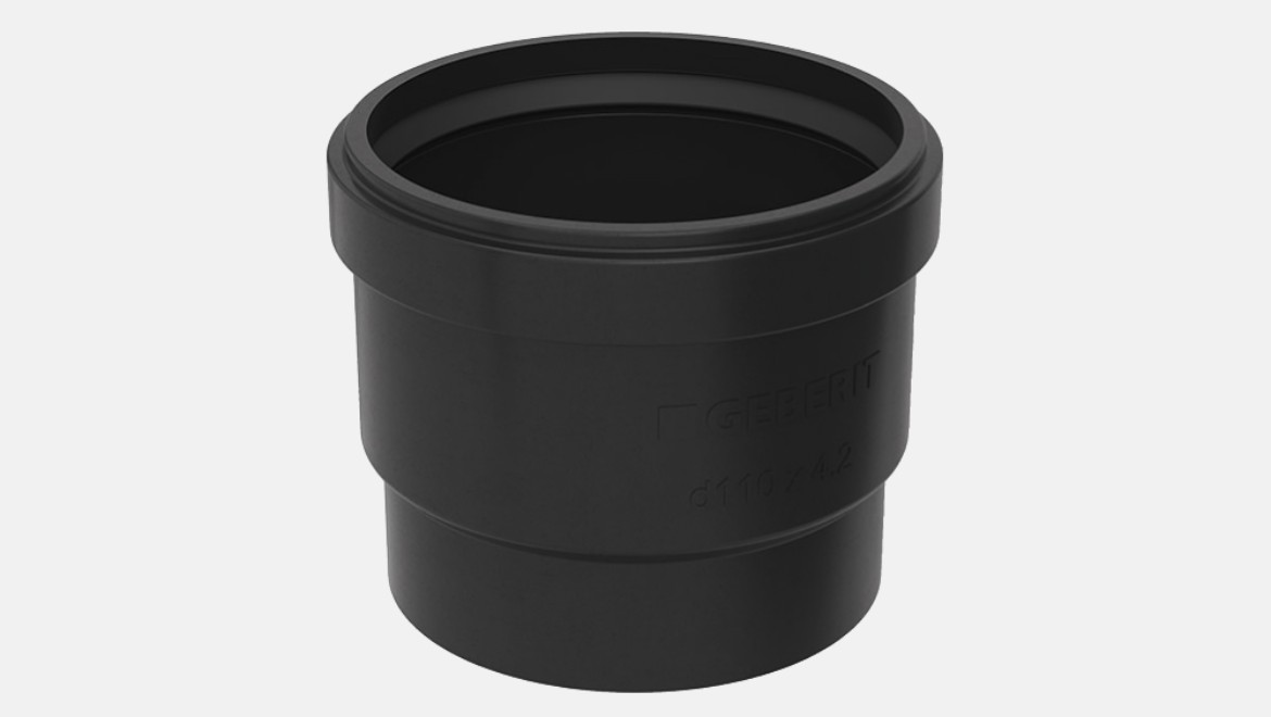 Geberit PE ring seal socket with lip seal