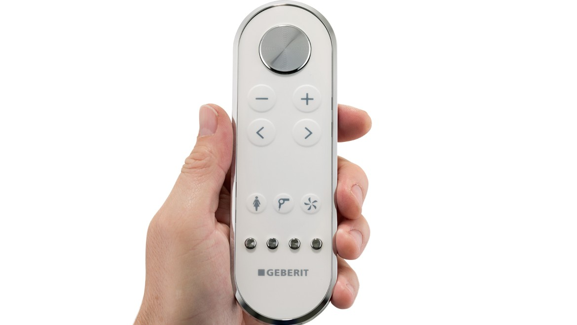 Geberit AquaClean remote control for greater convenience