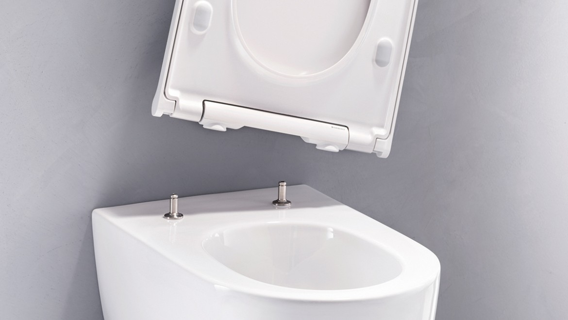 Geberit ONE WC with removable lid and seat ring