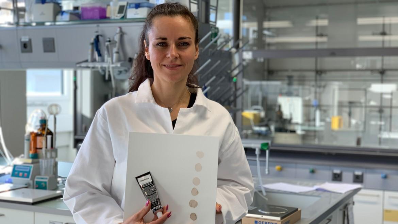 Marianne Krüger im Labor