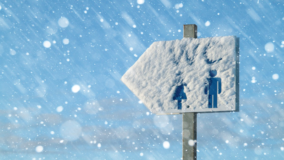 There's no need to endure a chilly walk to the toilet or an ice-cold WC seat