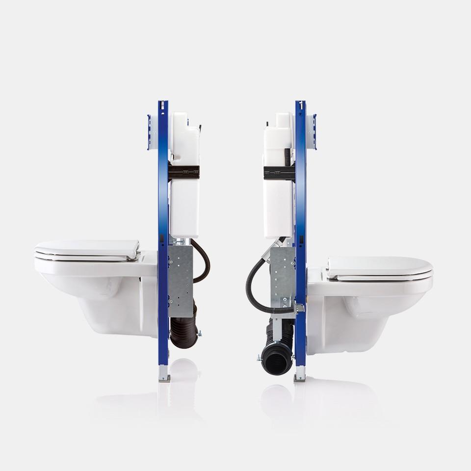 Geberit installatie-elementen voor barrière-vrije hang-wc