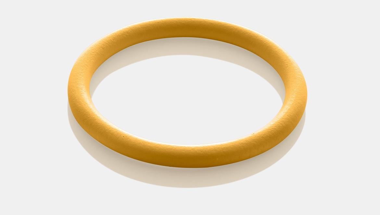 טבעת אטימה Geberit Mapress HNBR בצבע צהוב למתקן גז עם אביזרי נחושת