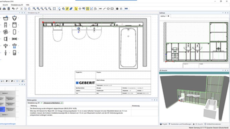Planungssoftware Geberit ProPlanner