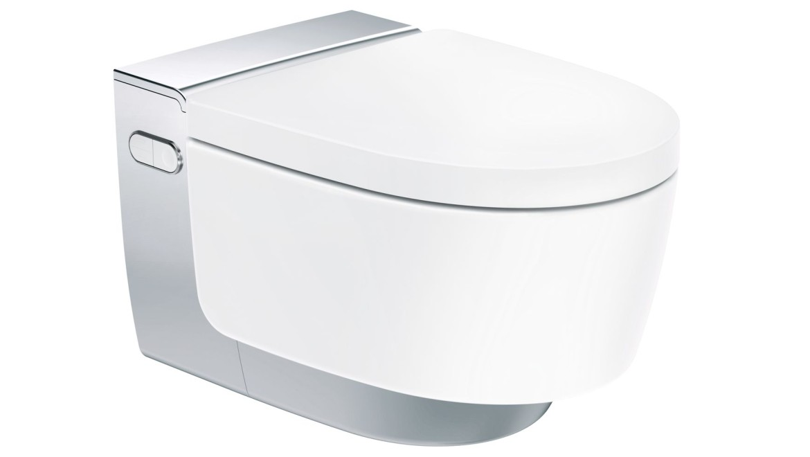 WC lavant Geberit AquaClean Mera Comfort chrome brillant