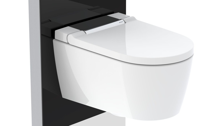 Module sanitaire Geberit Monolith Plus avec WCdouche Geberit AquaClean Sela chromé brillant