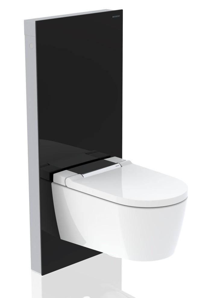 Geberit Monolith Plus Sanitärmodul mit Dusch-WC Geberit AquaClean Sela Chrom glänzend